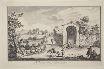 Veduta di Campagna vincino a Gamberaia