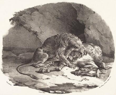 Horse Devoured by a Lion (Cheval devore par un lion)