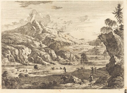 Mountainous Riverscape with Figures
