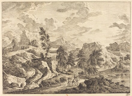 Landscape with the Rising Sun and a Rider with Attendant