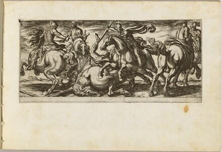 Six Cavalrymen in Combat