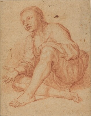 Young Peasant Seated on the Ground [recto]
