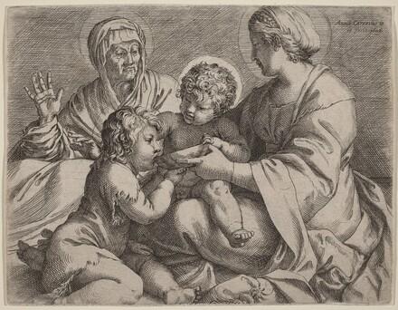Madonna and Child with Saints Elizabeth and John the Baptist (La Madonna della Scodella)