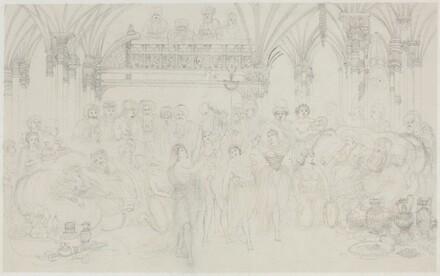 Interior: Dancing Girls Entertaining Chieftains