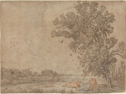 Meadow with a Shepherd and Cows