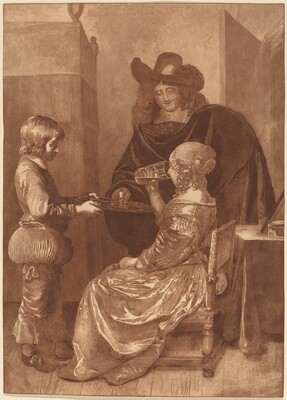 Cavalier and Lady with a Page