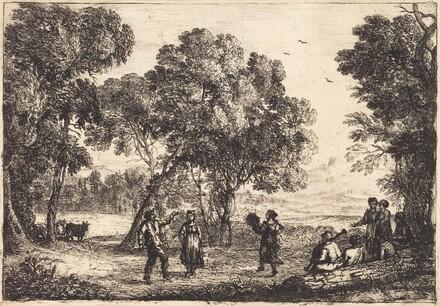 The Country Dance (Small Plate) (La danse sous les arbres)
