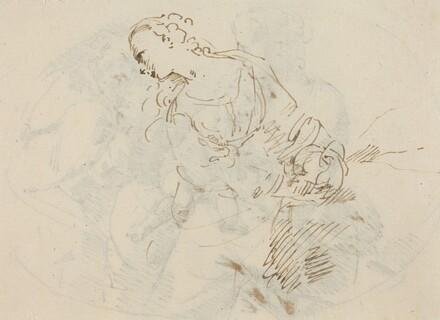 Female Figure (Penitent Magdalene?) [verso]
