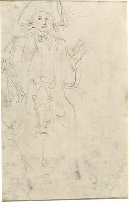 Man on a Horse [verso]