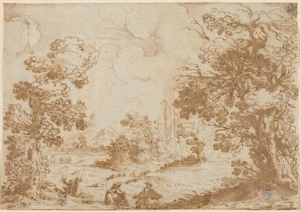 Landscape with Two Washerwomen