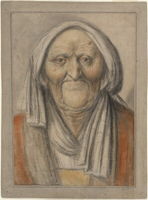Bust of an Old Woman Wearing a Head Scarf