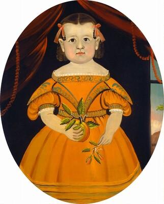 Little Girl Holding Apple