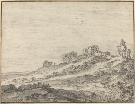 Travellers along the Crest of a Hill