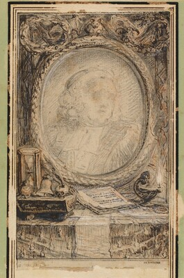 Allegorical Frame with a Bat
