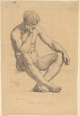 Seated Male Nude: Study for Science - Iowa State Capitol