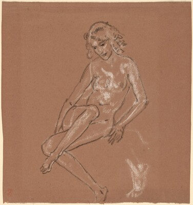 Seated Nude and a Foot
