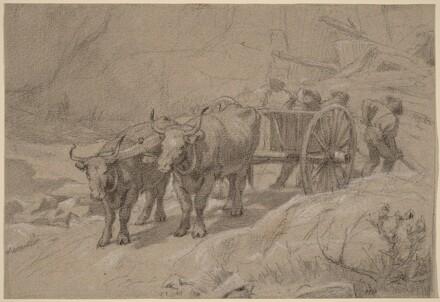 Oxen and Dump Cart