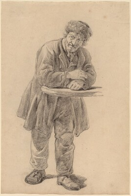 Man Leaning on a Counter
