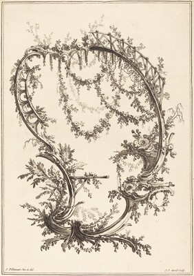 Ornament with a Strut and a Railing