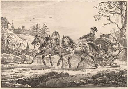 A Hired Coachman in Winter