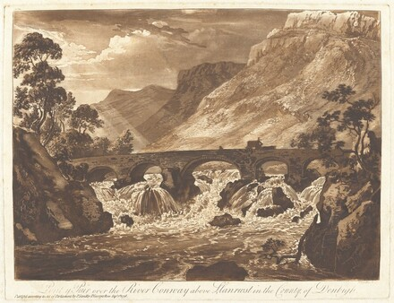 Pont-y-Pair over the River Conway above Llanrwst in the County of Denbigh