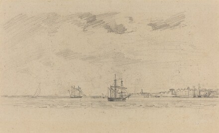 Coastal Landscape with Shipping