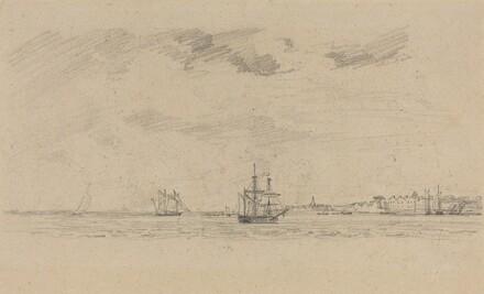 Coastal Landscape with Shipping