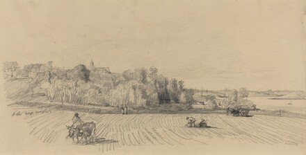L'Ile aux Moines with Workers in a Field