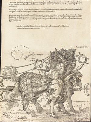 The Triumphal Chariot of Maximilian I (The Great Triumphal Car) [plate 7 of 8]