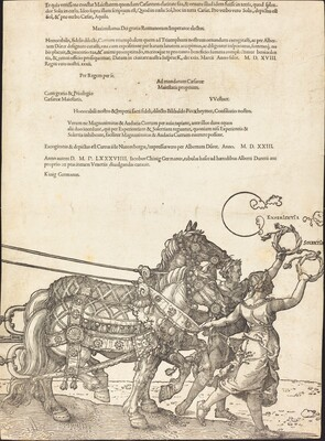 The Triumphal Chariot of Maximilian I (The Great Triumphal Car) [plate 8 of 8]