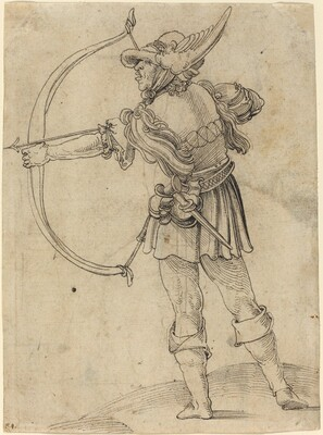 Archer Drawing His Bow