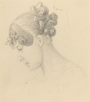 Head of a Woman Looking Down (Theresa Turner?)