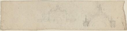 Studies for a Triumphal Arch Surmounted by Britannia [recto and verso]