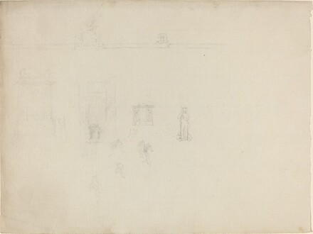 Sheet of Architectural and Figure Studies