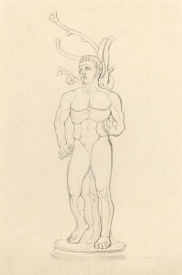 Statue of a Male Nude before a Tree