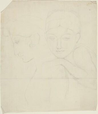 Two Women's Heads