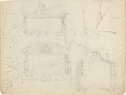Designs for Monuments [recto and verso]
