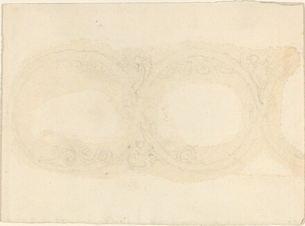 Ornamental Border Design with Winged Female Figures