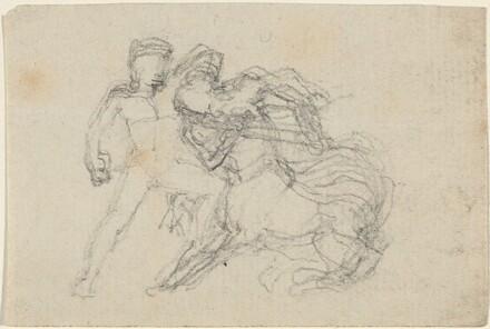 Battle between Man and Centaur