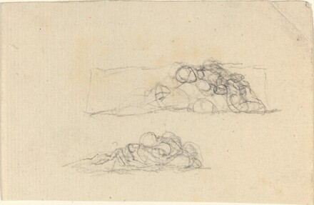Two Groups of Huddled Figures