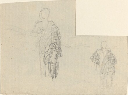 Two Studies of Standing Figure and Child