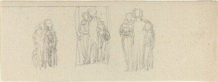 Three Groups of Figures (Parents and Children?)