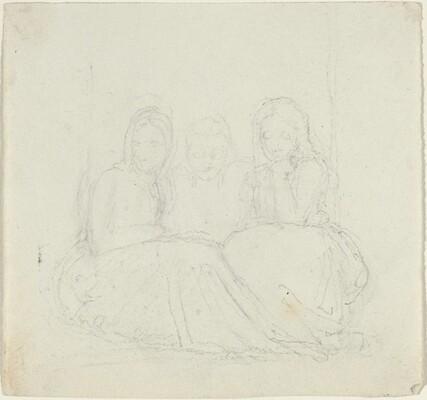 Three Seated Female Figures