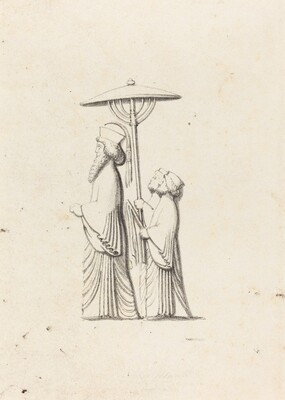 Sculpture at Persepolis, from Le Bruyn's Travels