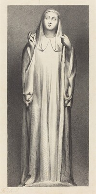 Figure from Peterborough Cathedral