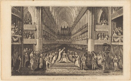 Crowning of Queen Victoria, June 28, 1838 [right half]