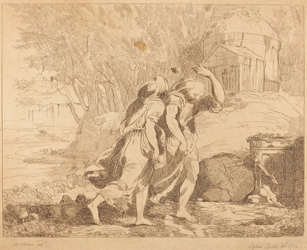 Two Fleeing Figures