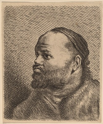 Bust of a Man with Thick Lips