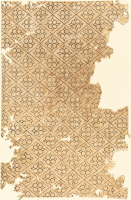 Sheet with Flower and Diamond Pattern