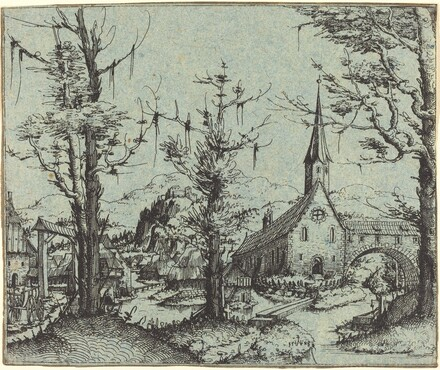 Landscape with a Village Church